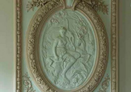 le Manoir holiday rental south of france Narbonne wall frieze